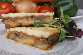 Plate of mousaka